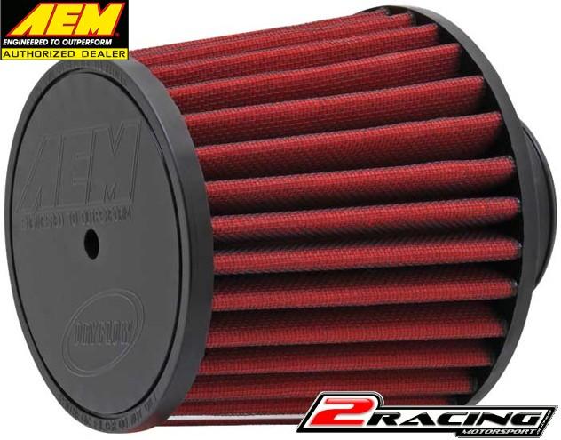 AEM uni sportovní vzduchový filtr vstup 63 mm, výška 127 mm 21-201D-HK