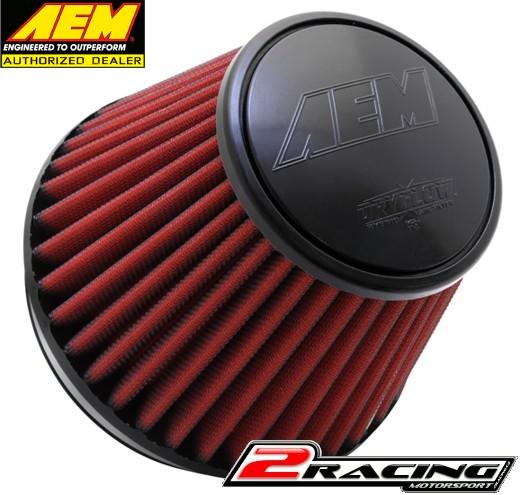 AEM uni sportovní vzduchový filtr vstup 152 mm, výška 127 mm 21-209DK