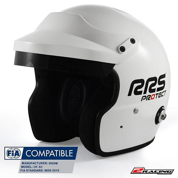 Jet otevřená závodní helma HANS FIA 8859-2015 bílá RRS