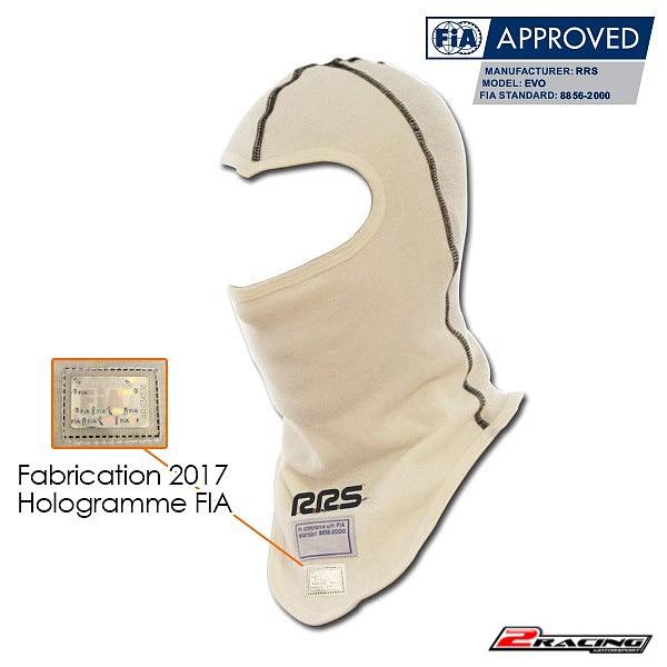 Nehořlavá kukla FIA pod helmu 100% Nomex bílá RRS