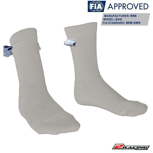 Ponožky nehořlavé FIA 8856-2000 bílá RRS