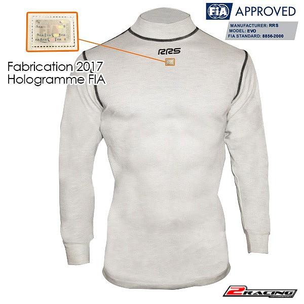 Spodní triko nehořlavé FIA 8856-2000 100% Nomex bílá